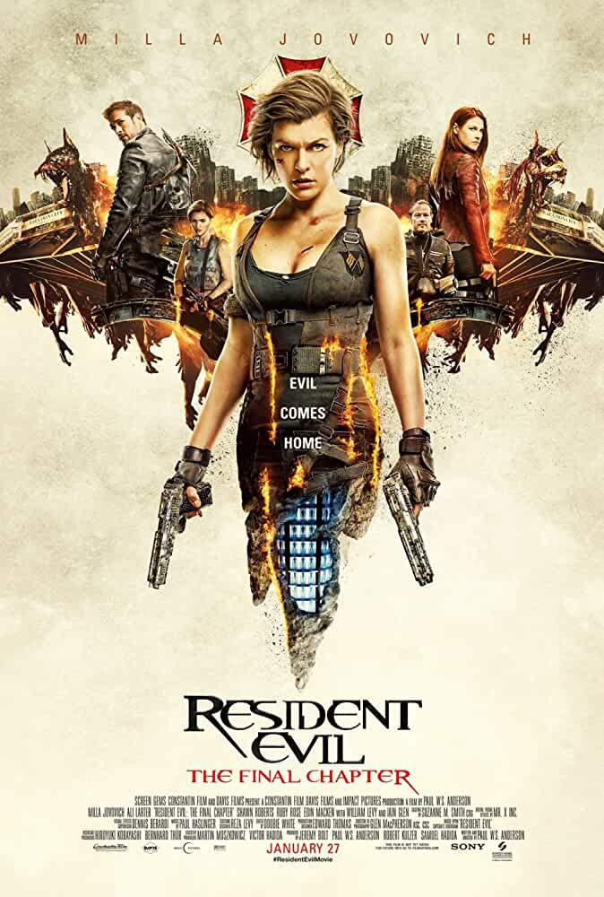 Resident Evil: The Final Chapter 2017 Movies Watch on Netflix