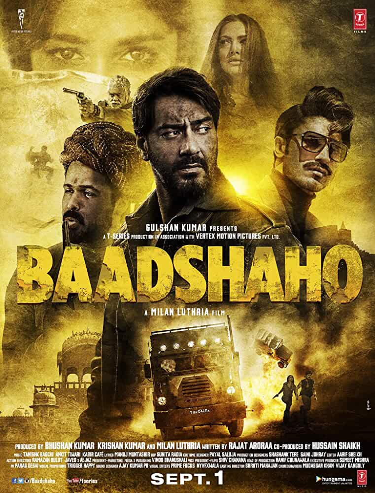 Baadshaho 2017 Movies Watch on Disney + HotStar