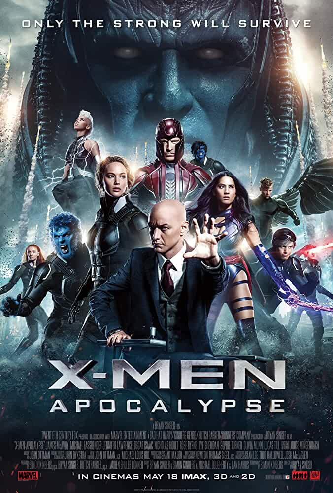 X-Men: Apocalypse  2016 Movies Watch on Disney + HotStar