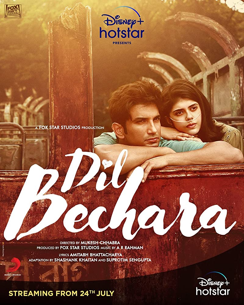 Dil Bechara 2020 Movies Watch on Disney + HotStar