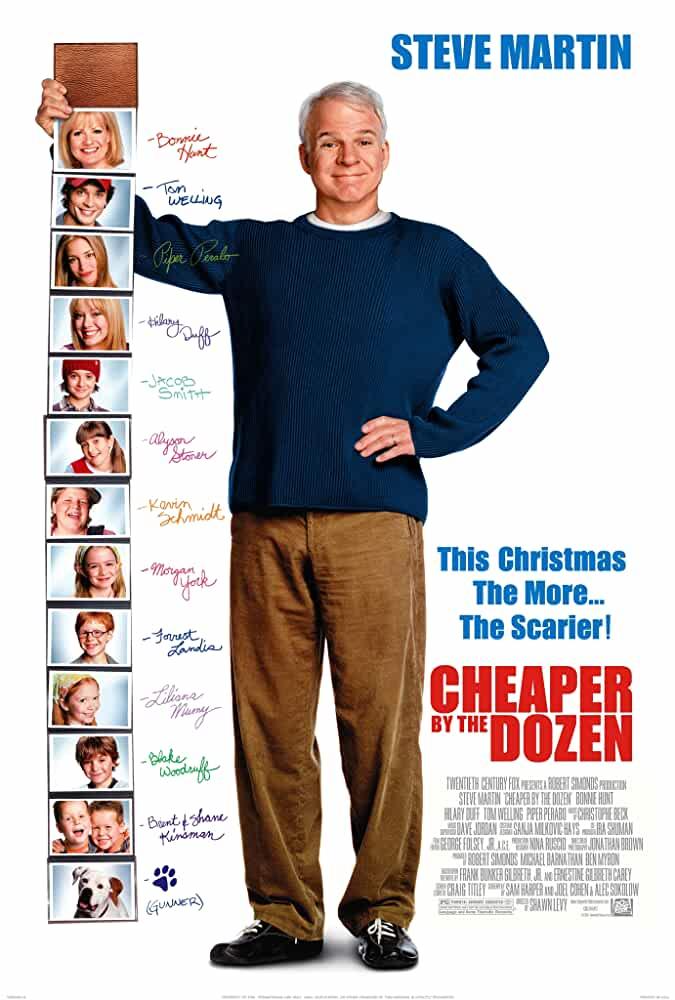 Cheaper by the Dozen 2003 Movies Watch on Disney + HotStar