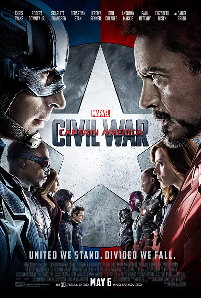 Captain America: Civil War 2016 Movies Watch on Disney + HotStar