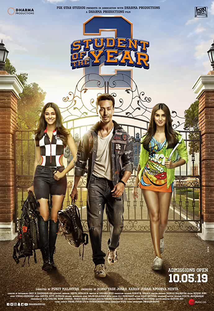 Student of the Year 2 2019 Movies Watch on Amazon Prime Video