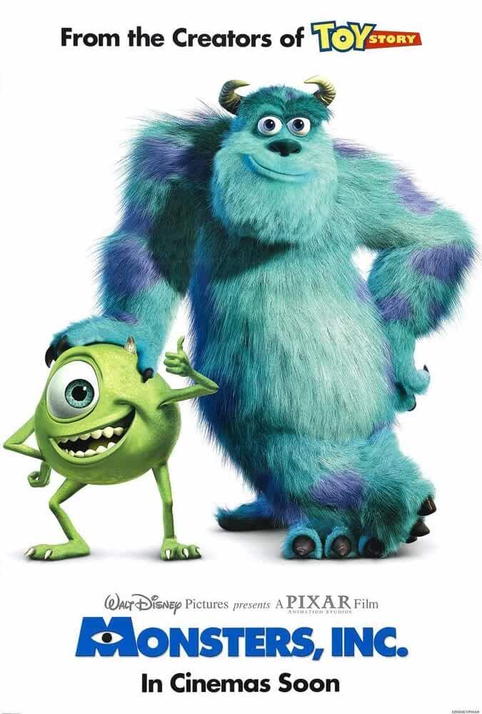 Monsters, Inc. 2001 Movies Watch on Disney + HotStar