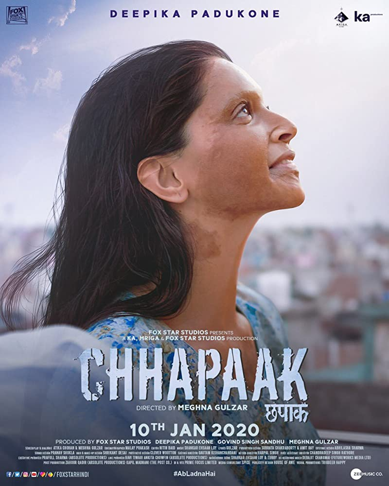 Chhapaak 2020 Movies Watch on Disney + HotStar