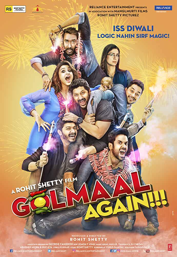 Golmaal Again 2017 Movies Watch on Disney + HotStar
