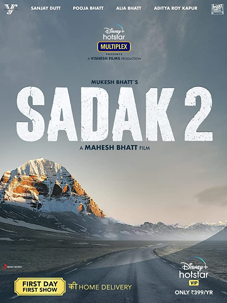 Sadak 2 2020 Movies Watch on Disney + HotStar