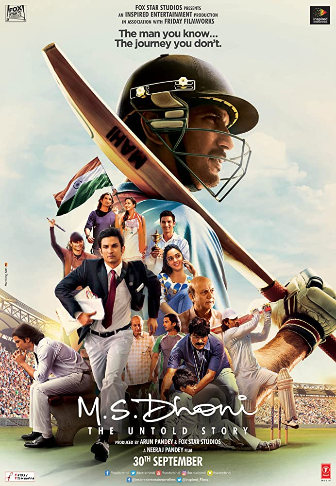 M.S. Dhoni: The Untold Story 2016 Movies Watch on Disney + HotStar