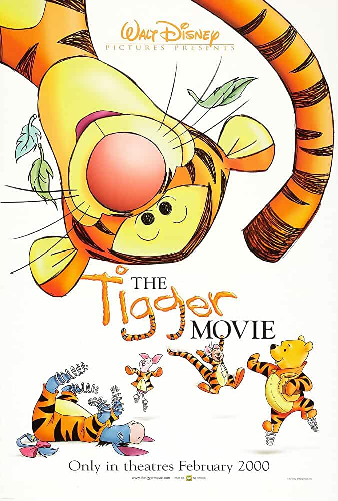 The Tigger Movie 2000 Movies Watch on Disney + HotStar
