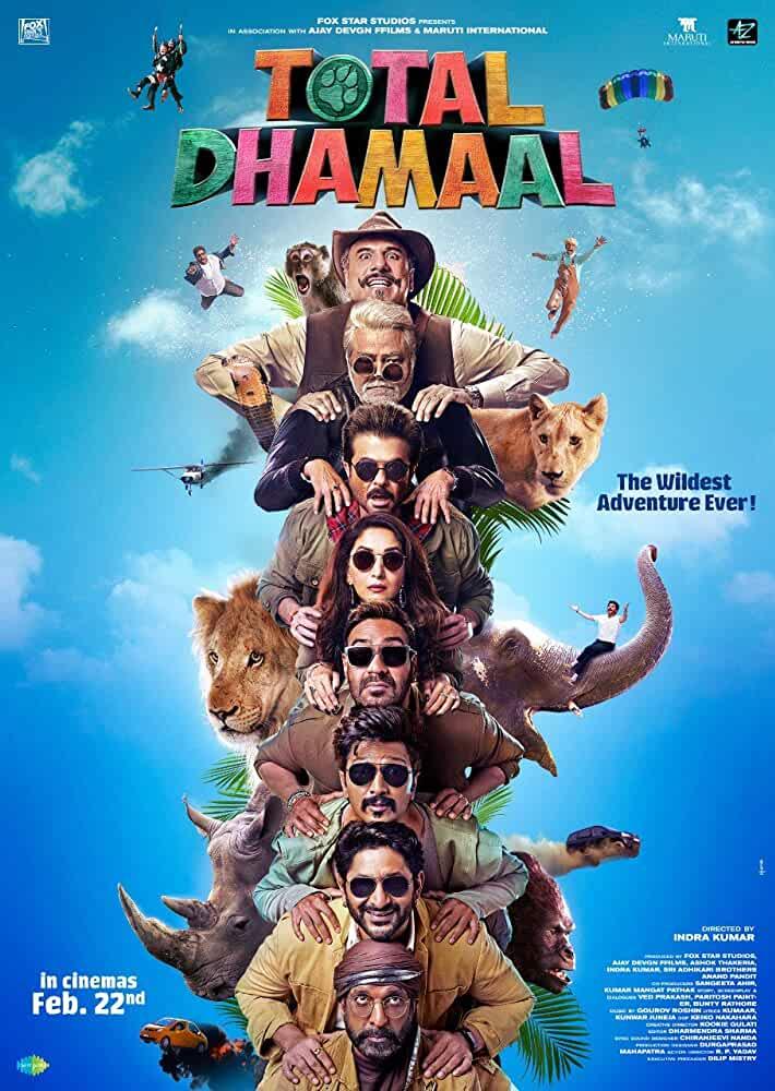 Total Dhamaal 2019 Movies Watch on Disney + HotStar