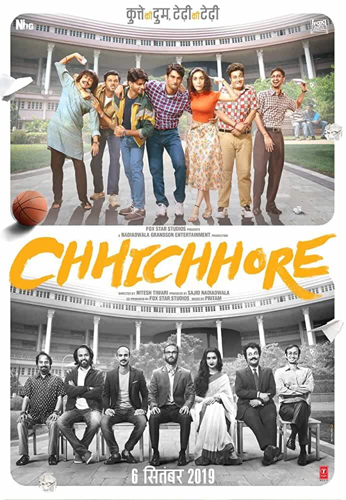 Chhichhore 2019 Movies Watch on Disney + HotStar